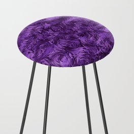 Marbled Paisley - Purple Counter Stool