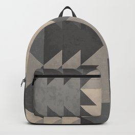 abstract triangle geometric pattern Backpack