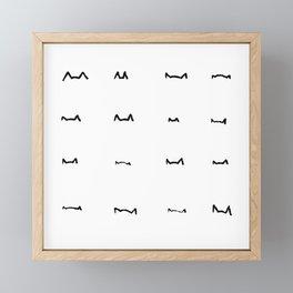 Coit Cat Pattern 6 Framed Mini Art Print