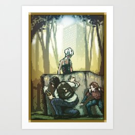 Pixel Art series 12 : In silence Art Print