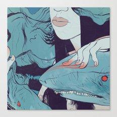 Peaceoffering: Sharks! Women! Danger. Canvas Print