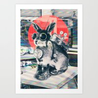 Art Prints featuring Time Traveller by Ali GULEC