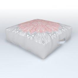 MANDALA IN GREY AND PINK Outdoor Floor Cushion