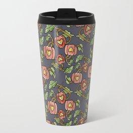 Pumpkin Patch Damask Travel Mug
