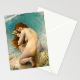 A Water Nymph Léon Bazille Perrault 1898 Stationery Cards