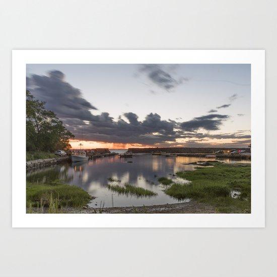 Summer Lanescove sunset Art Print