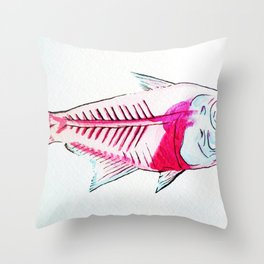 My First Water Color Throw Pillow