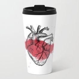 Anatomical heart - Art is Heart  Metal Travel Mug