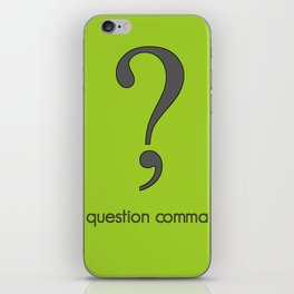 Question Comma iPhone Skin