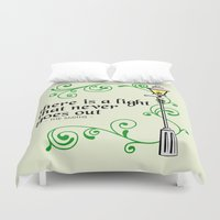 narnia Duvet Covers featuring There is a Light that Never Goes Out by Hugh & West
