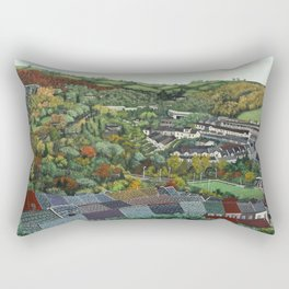 Pontypridd (featuring Sardis Road Rugby Ground) Rectangular Pillow