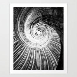 Sand stone spiral staircase Art Print