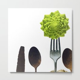 Eat Healthy Metal Print