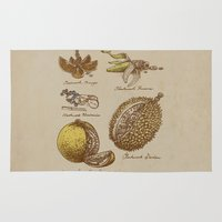 kubrick Area & Throw Rugs featuring Steampunk Fruit  by Eric Fan
