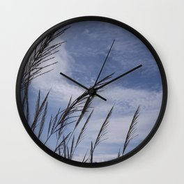 Swaying In The Wind Wall Clock