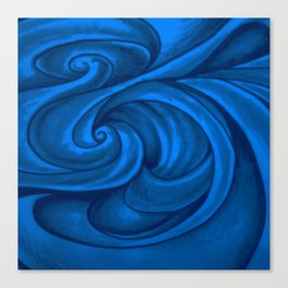 swirl (dark blue) Canvas Print