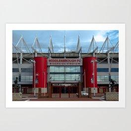 Football Stadium - Middlesbrough Art Print