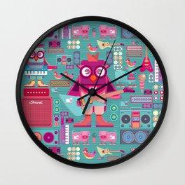 singpentinkhappy band II Wall Clock
