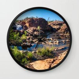 Panoramic view at Edith Falls, Katherine, Australia Wall Clock