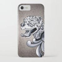 pit bull iPhone & iPod Cases featuring Ornamental Pit Bull by Pretty In Ink