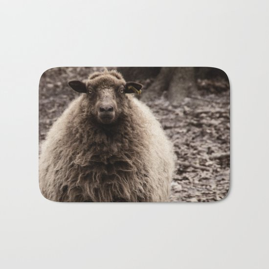 Sheep Stare Bath Mat