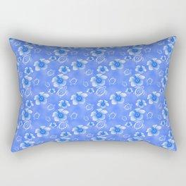 Blue Honu And Hibiscus Hawaiian Pattern Rectangular Pillow