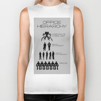 the office Biker Tanks featuring Office Hierarchy by TheShadowTheatre