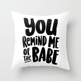 Labyrinth // You remind me of the babe Throw Pillow