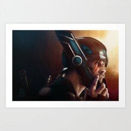 Thor-Ready for Battle Art Print