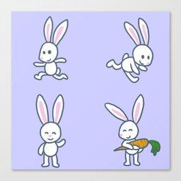 Stickimals - Bunny Canvas Print