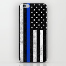 Thin Blue Line iPhone Skin