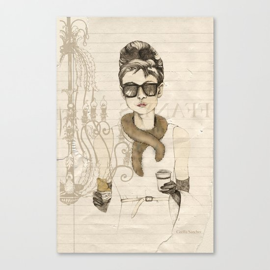 My breakfast at Tiffany's Canvas Print