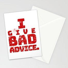 Bad Advice. Stationery Cards