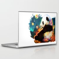 pandas Laptop & iPad Skins featuring pandas dream by ururuty
