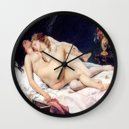 NUDE ART : The Lovers Wall Clock