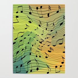 Music notes II Poster