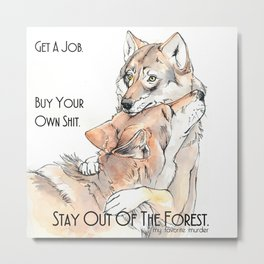 MFM: Stay Out of the Forest Metal Print