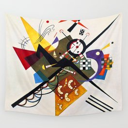 Wassily Kandinsky On White II Wall Tapestry
