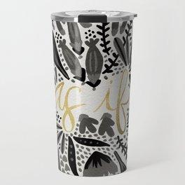 As If – Black & Gold Travel Mug