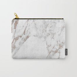 Rose gold shimmer vein marble Carry-All Pouch