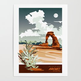 DELICATE ARCH MOAB UTAH Poster
