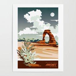 DELICATE ARCH MOAB UTAH Poster