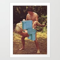toilet Art Prints featuring Toilet sex by Martin Carri