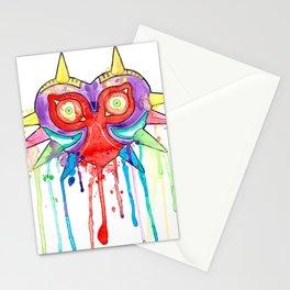 Majoras Mask Splatter Stationery Cards