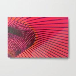 Coral Japanese umbrella Metal Print