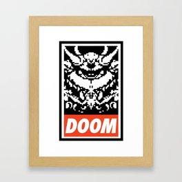 DOOM (OBEY) Framed Art Print