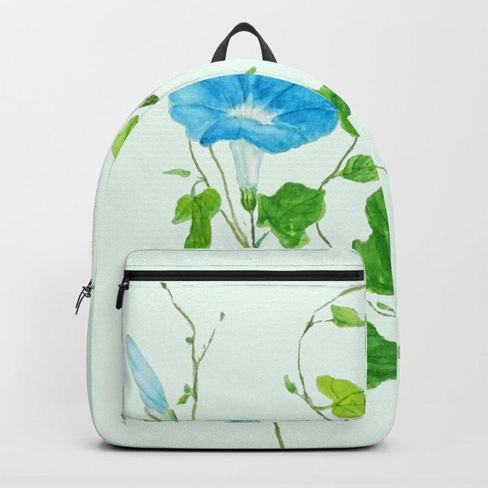blue morning glory Backpack