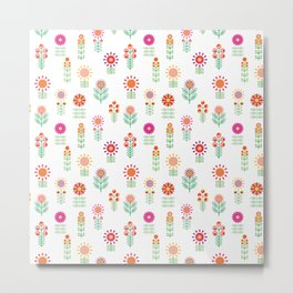 Colorful Floral Garden Metal Print