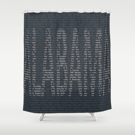 Alabama and All Her Cities Shower Curtain