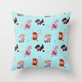 Zombie Cats Throw Pillow